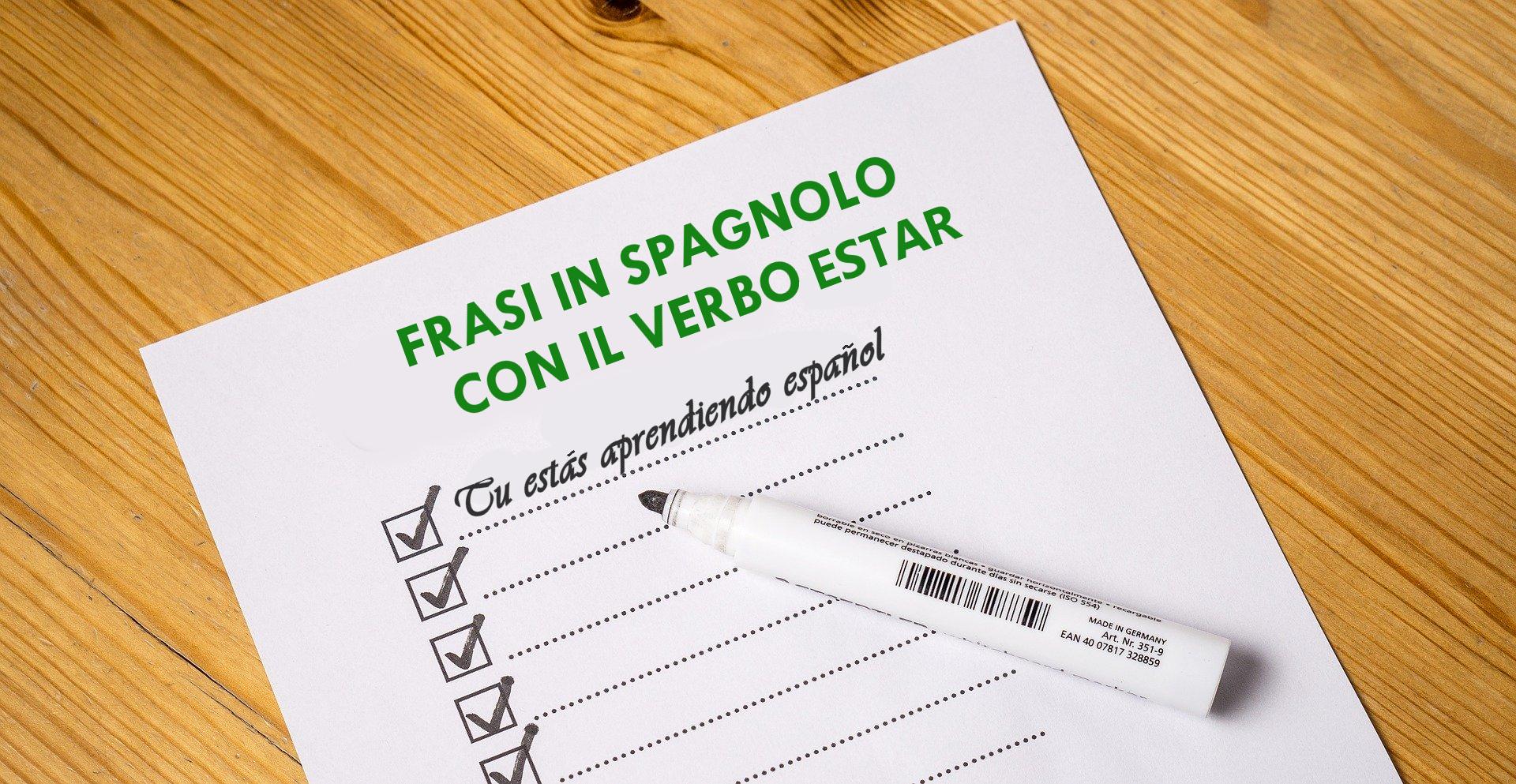 Frasi Con Il Verbo Estar Spagnolo Calzari Alati