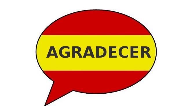 coniugazione agradecer spagnolo