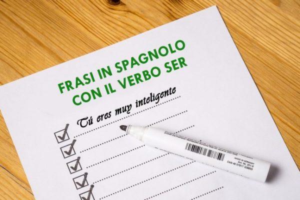 Frasi con il verbo ser – spagnolo