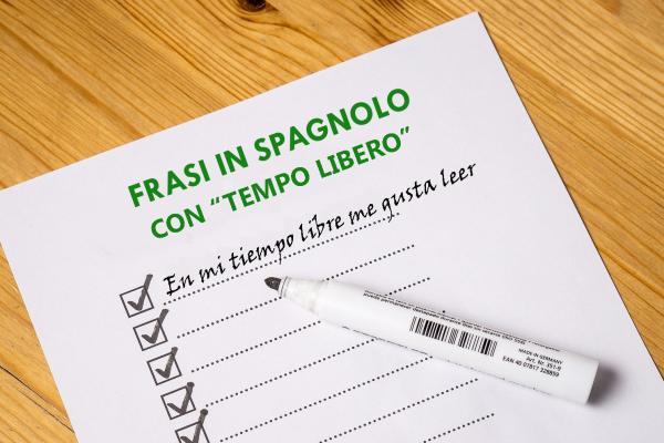 Tempo libero in spagnolo – frasi esempio