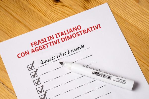 Frasi con aggettivi dimostrativi – Italiano