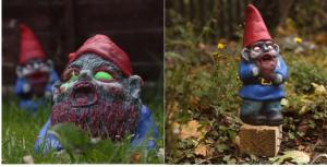 gnomi da giardino zombie